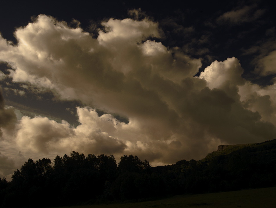 Landscape photograph of clouds drifting over Cavehill Belfast, Northern Ireland - photograph 2845 photo icon.