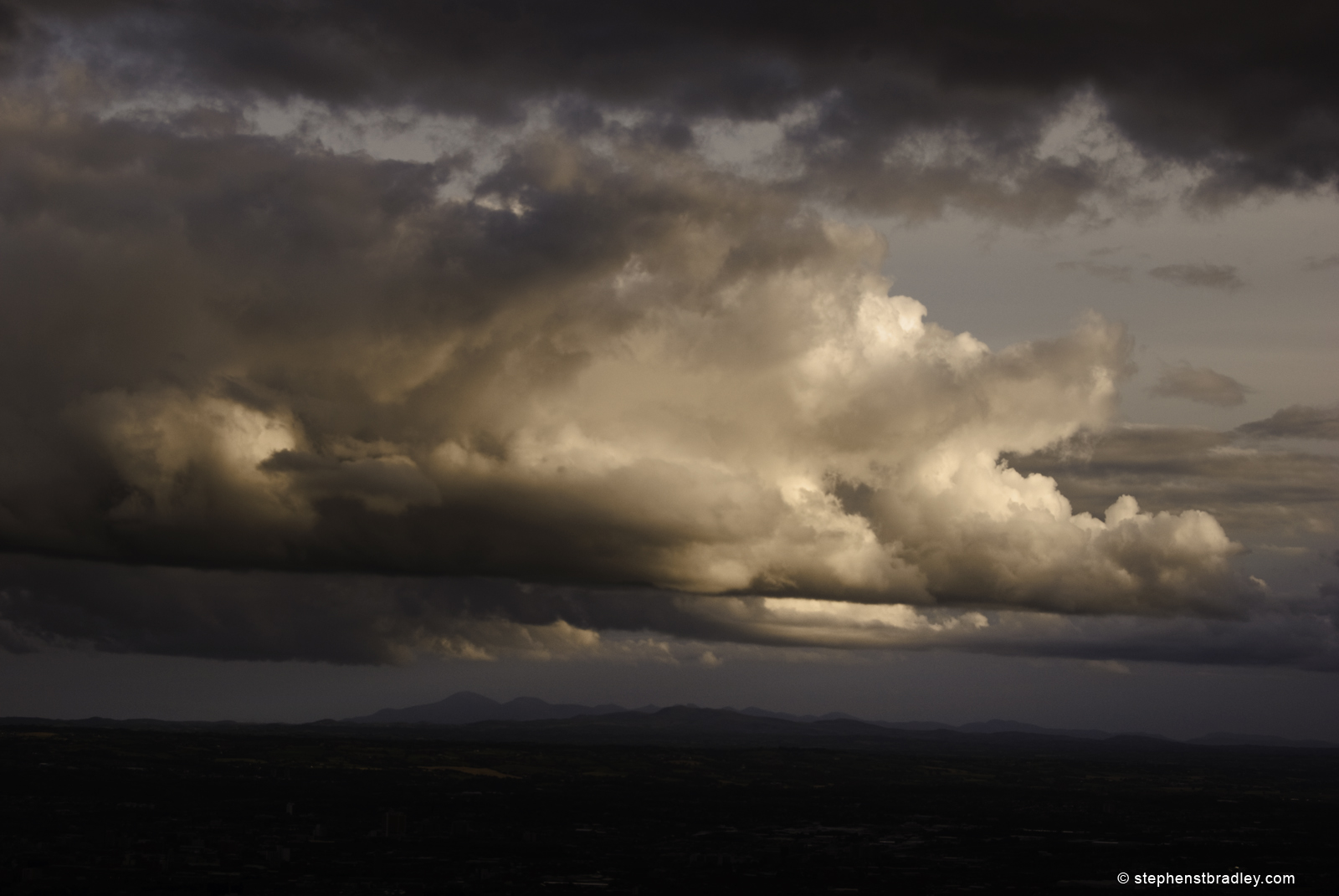 Evening clouds over the Mourne Mountains, from the Cavehill, Northern Ireland.
