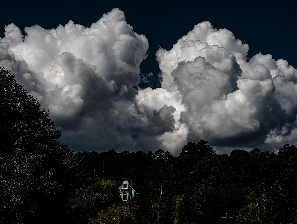 Clouds over Tate, Pickens County, Georgia, USA - image 1441 photo icon.