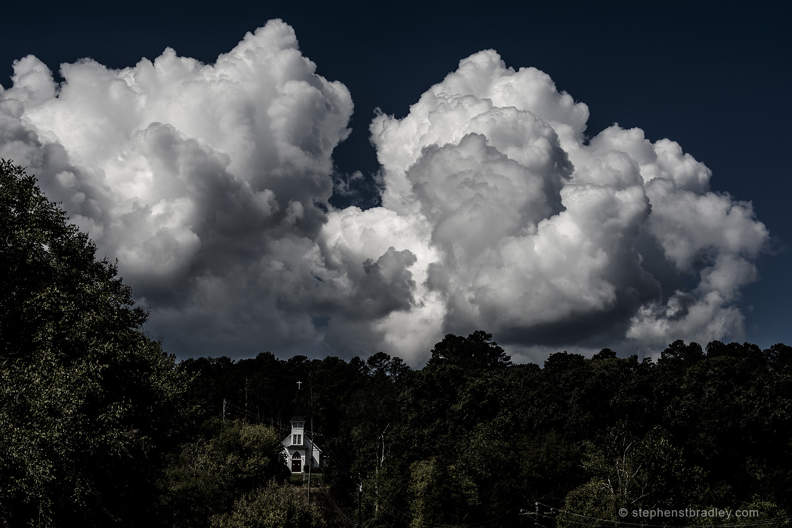Clouds over Tate, Pickens County, Georgia, USA.