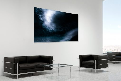 Sweep Low - fine art landscape photograph 5405 by photographer Stephen S T Bradley shown in room setting.