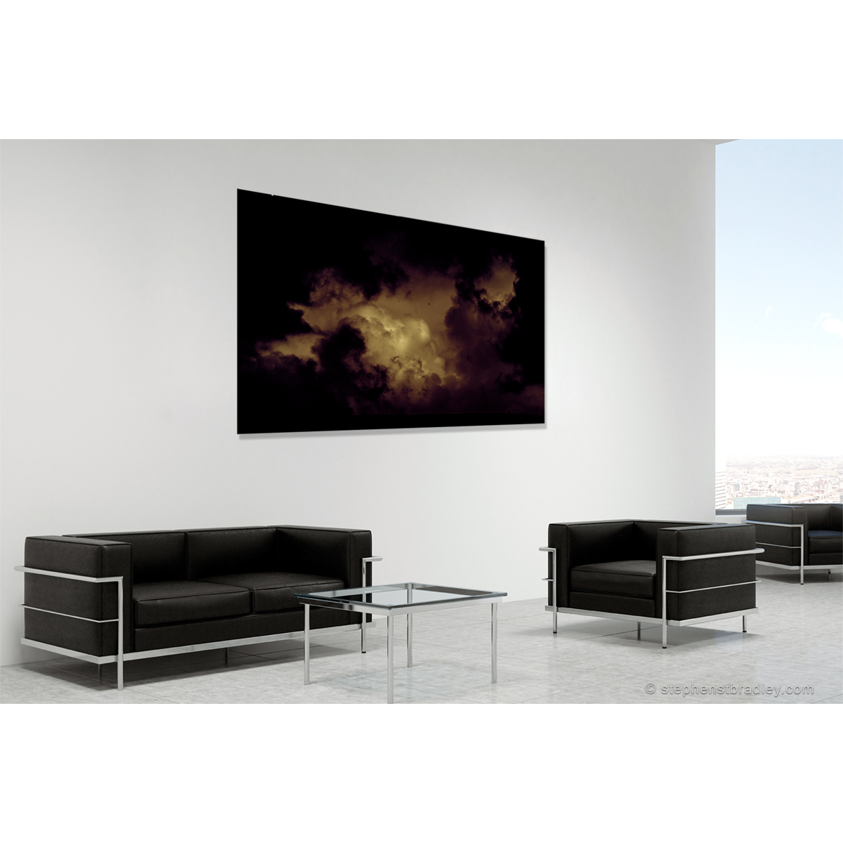 Wonderworld. Fine art landscape photo of Cave Hill Ireland in room setting for sale - Stephen S T Bradley