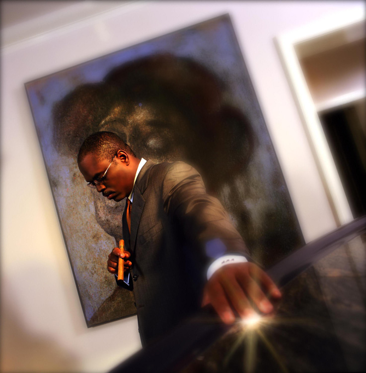 Editorial photographer Dublin, Ireland, portfolio. Photo of LA Reid by Stephen S T Bradley