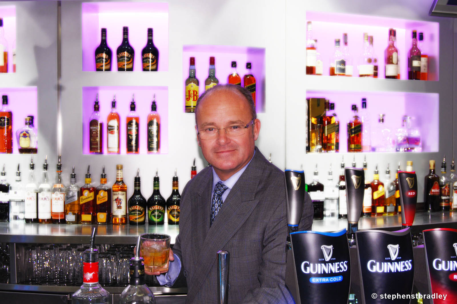 PR Photographer Dublin Ireland portfolio photo of former Diageo CEO Paul Walsh - photo 2262 by Stephen T Bradley PR photography and video production services Dublin, Ireland