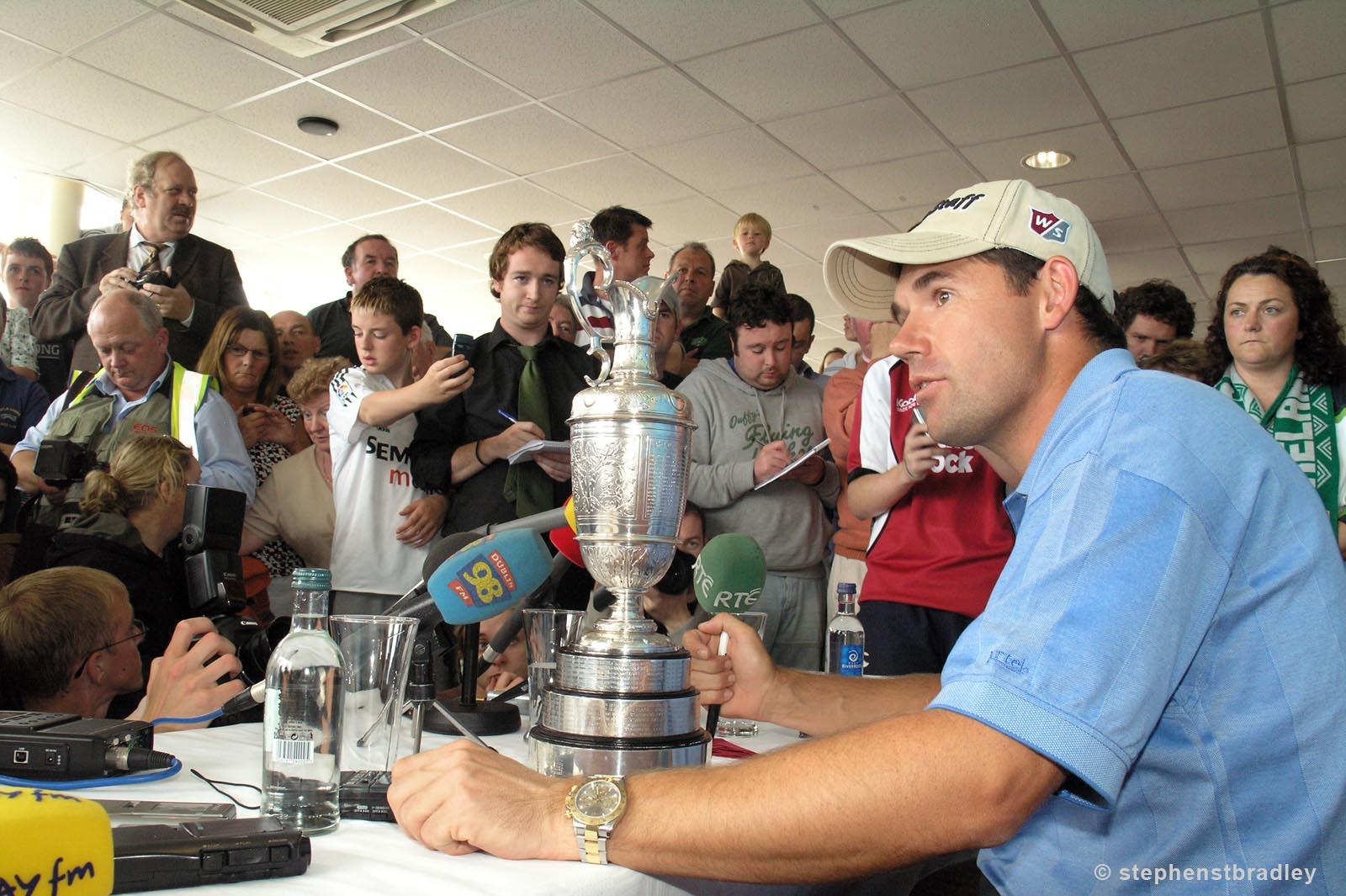 Editorial photographer Dublin portfolio photo 7235023 of Padraig Harrington arriving in Ireland after winning The Open Championship, by Stephen S T Bradley