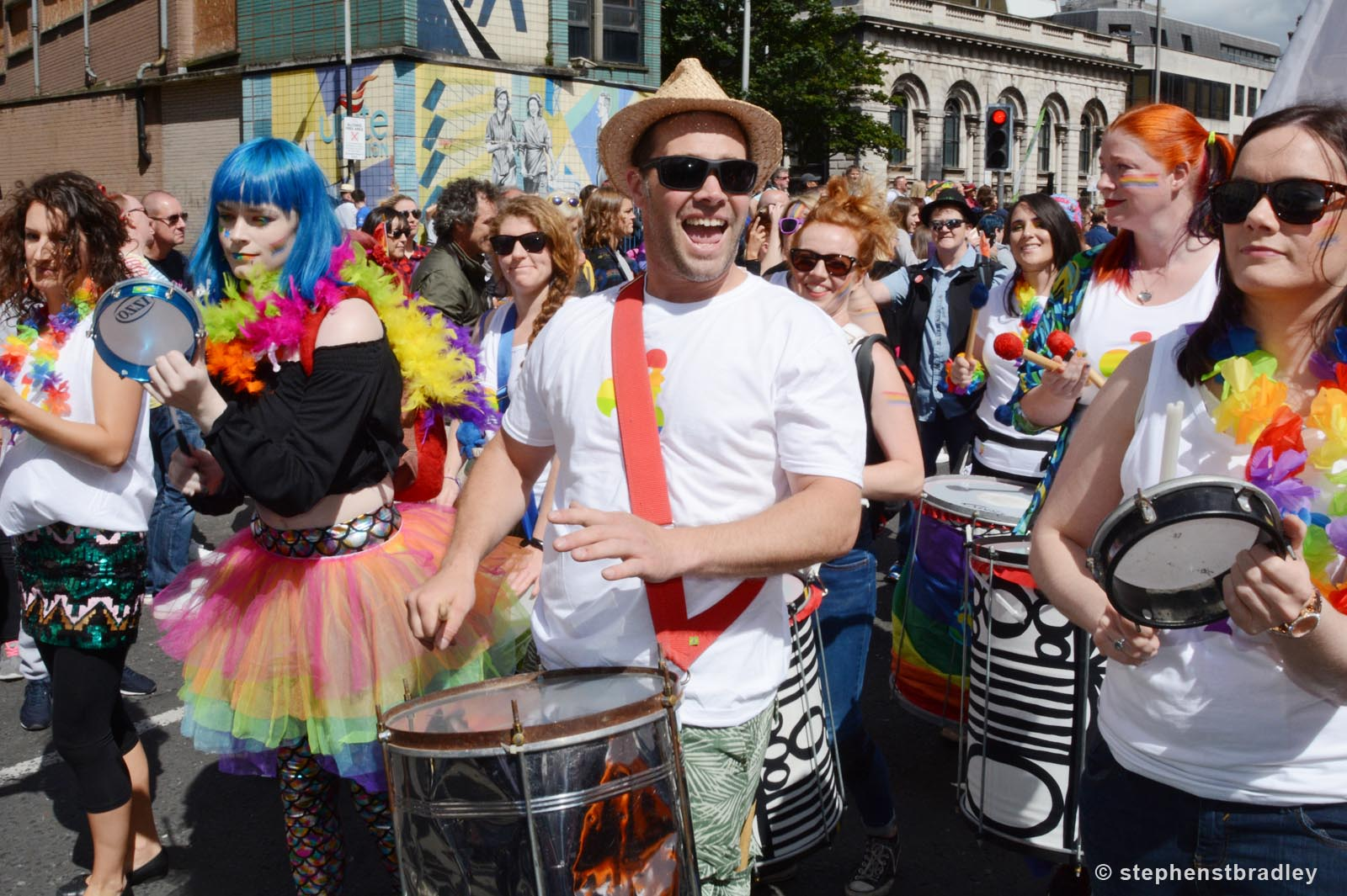 Editorial photographer Dublin portfolio photo 8571 of Belfast Pride Parade by Stephen S T Bradley