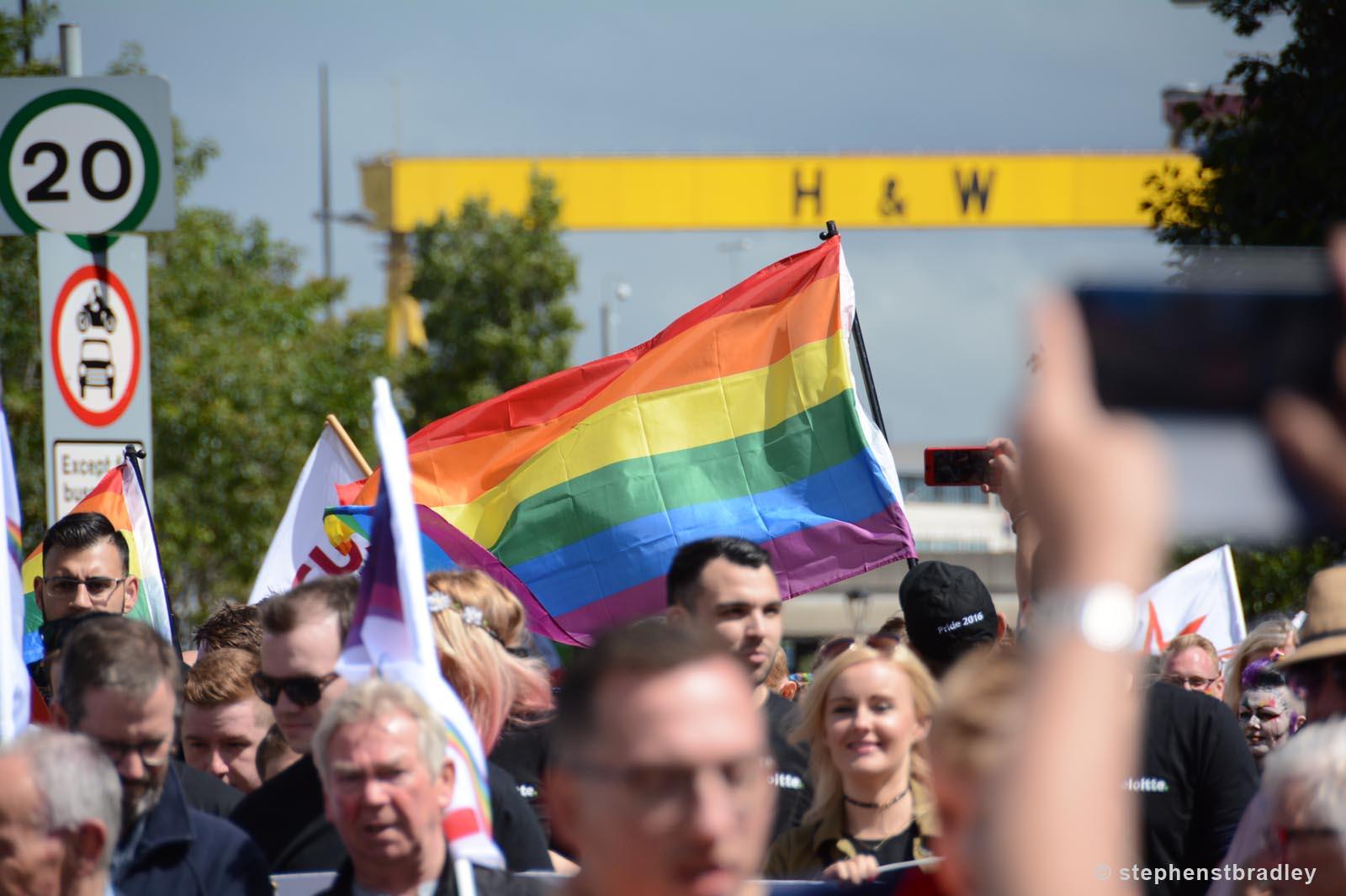 Editorial photographer Dublin portfolio photo 8581 of Belfast Pride Parade by Stephen S T Bradley
