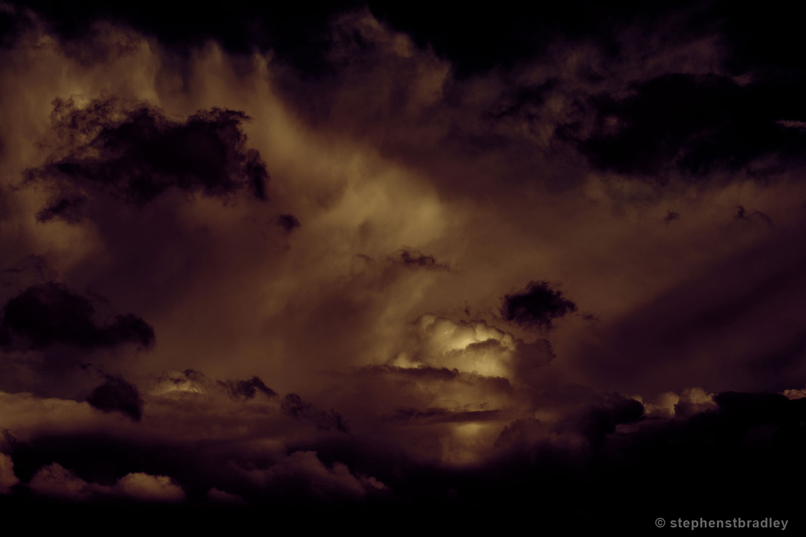 Boom - fine art photograph by Stephen S T Bradley of clouds over Newtownabbey, Northern Ireland