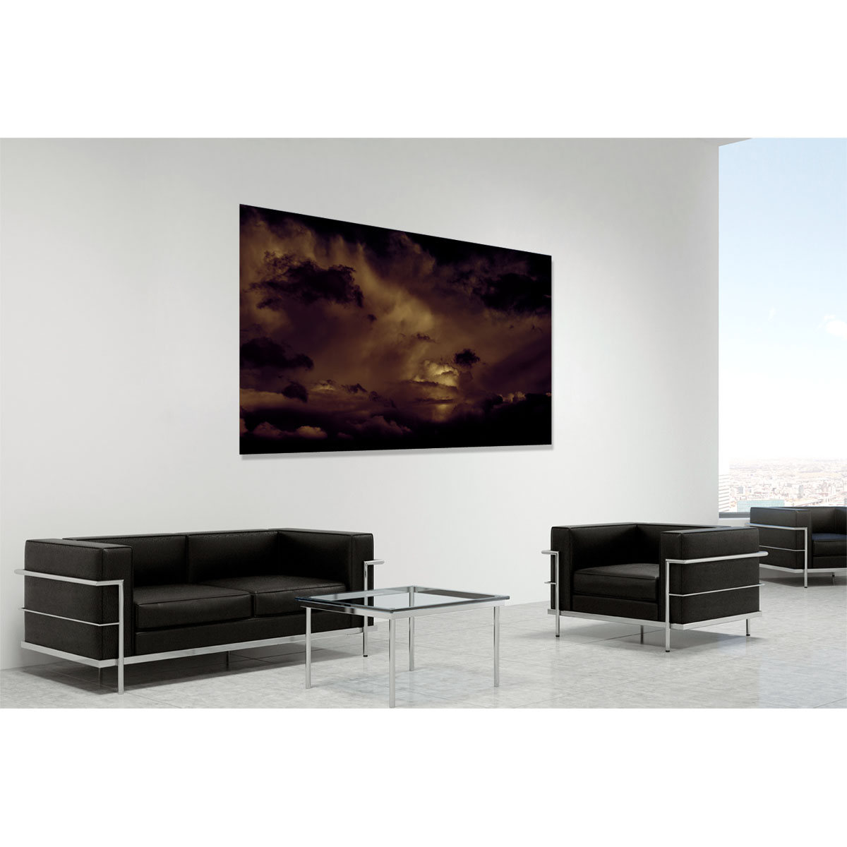 Boom - contemporary fine art photography of Ireland by Stephen S T Bradley in room setting
