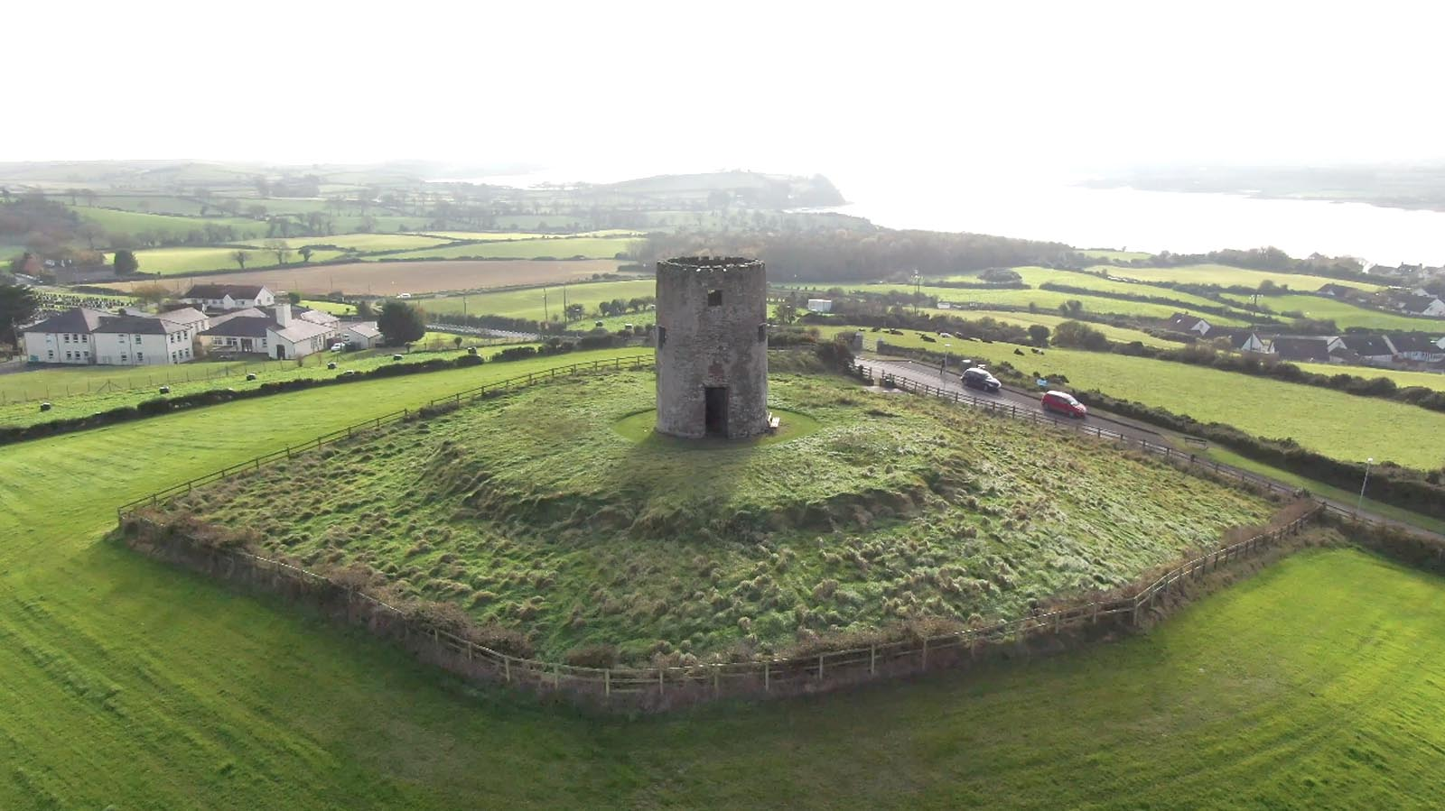 Aerial drone photography and video production services Dublin and Ireland portfolio - screenshot 1 of Portico Ards video