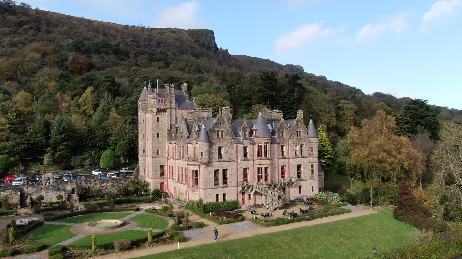 Aerial drone photography and video production services Dublin and Ireland portfolio - screenshot 2 of Belfast Castle video