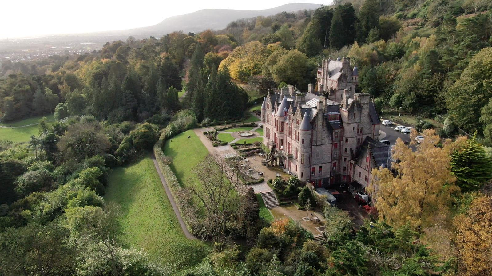 Commercial, residential, property drone photography and video Dublin, Wicklow, Monaghan, Cavan, Ireland portfolio - screenshot 3 of Belfast Castle video