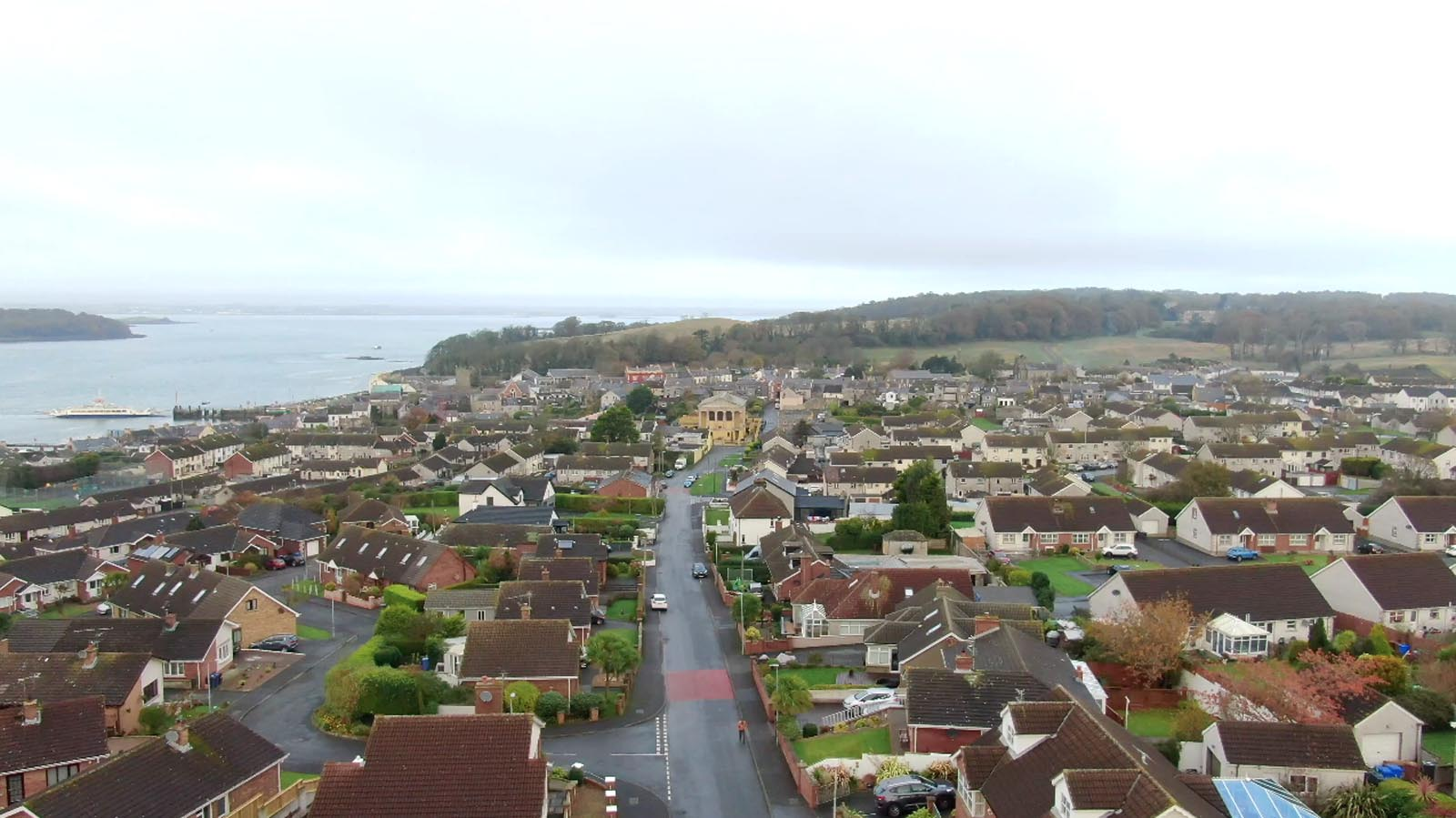 Aerial drone photography and video production services Dublin and Ireland portfolio - screenshot 4 of Portico Ards video
