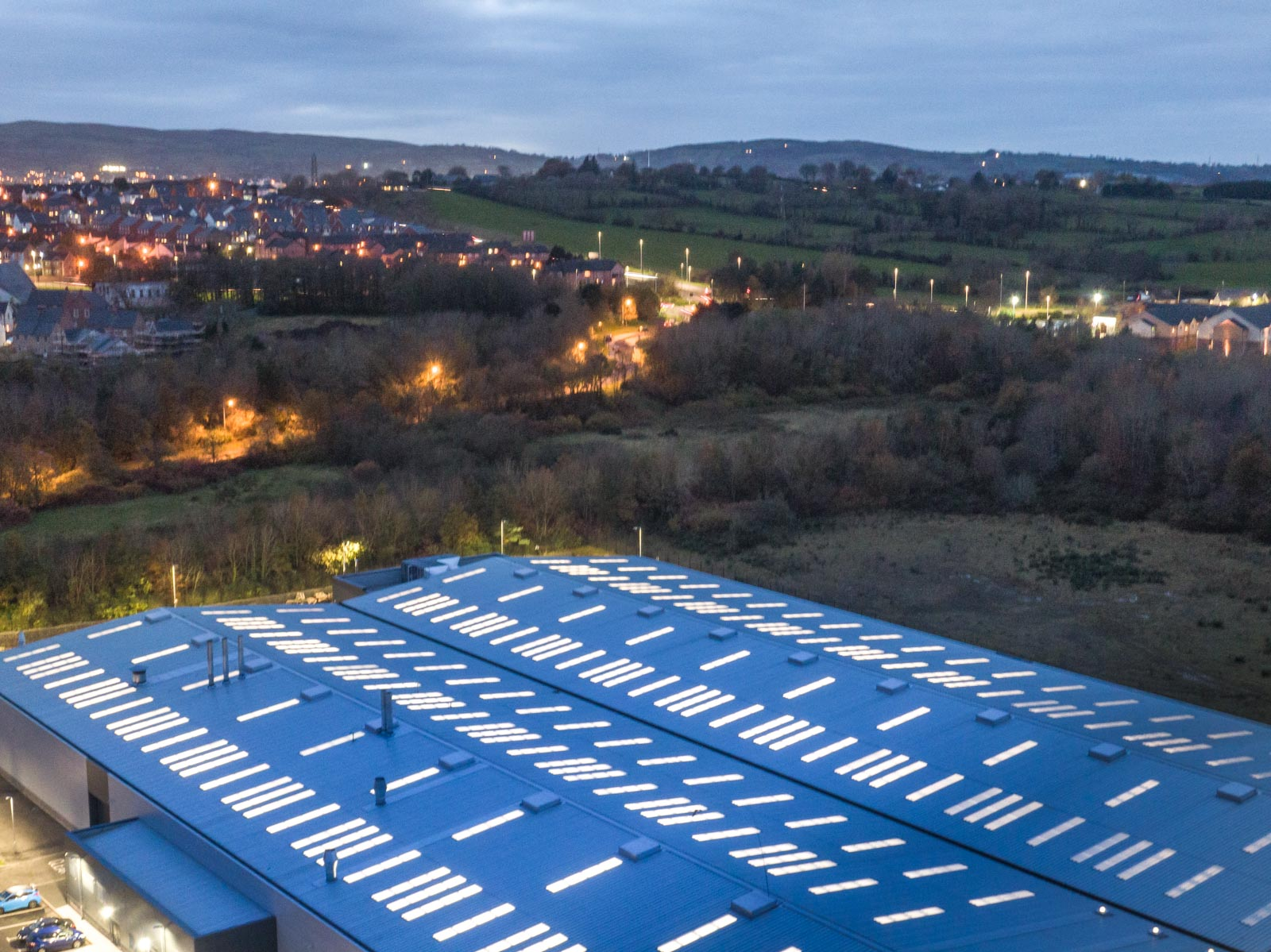 Aerial drone photography and video production services Dublin and Ireland portfolio - section 0003 of photo 0001-2 of RLC building, N. Ireland