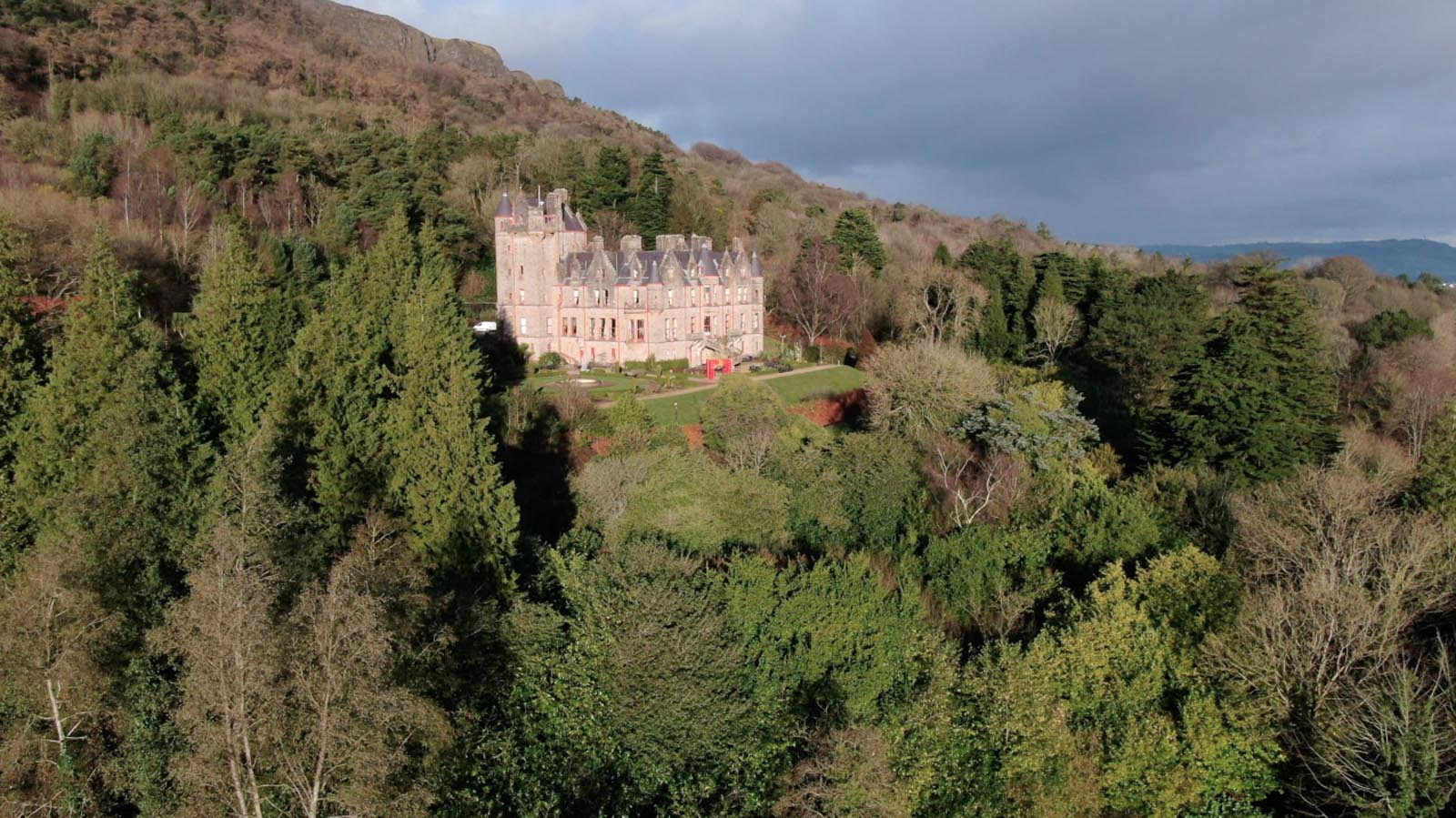 Aerial drone photography and video production services Dublin and Ireland portfolio - screenshot 1 of Belfast Castle 2 video