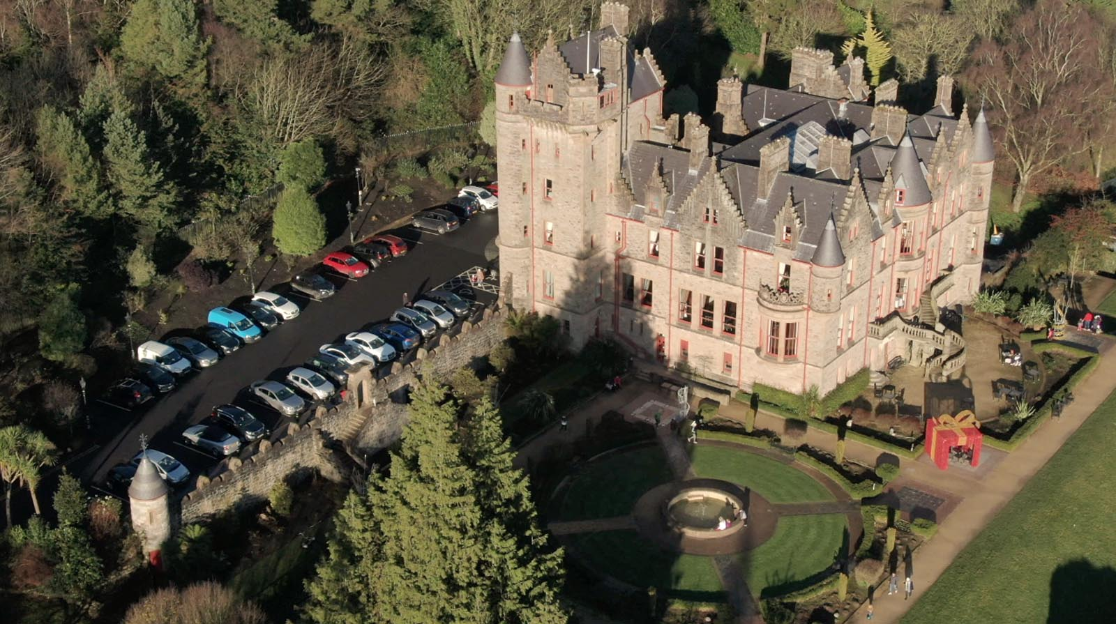 Aerial drone photography and video production services Dublin and Ireland portfolio - screenshot 2 of Belfast Castle 2 video