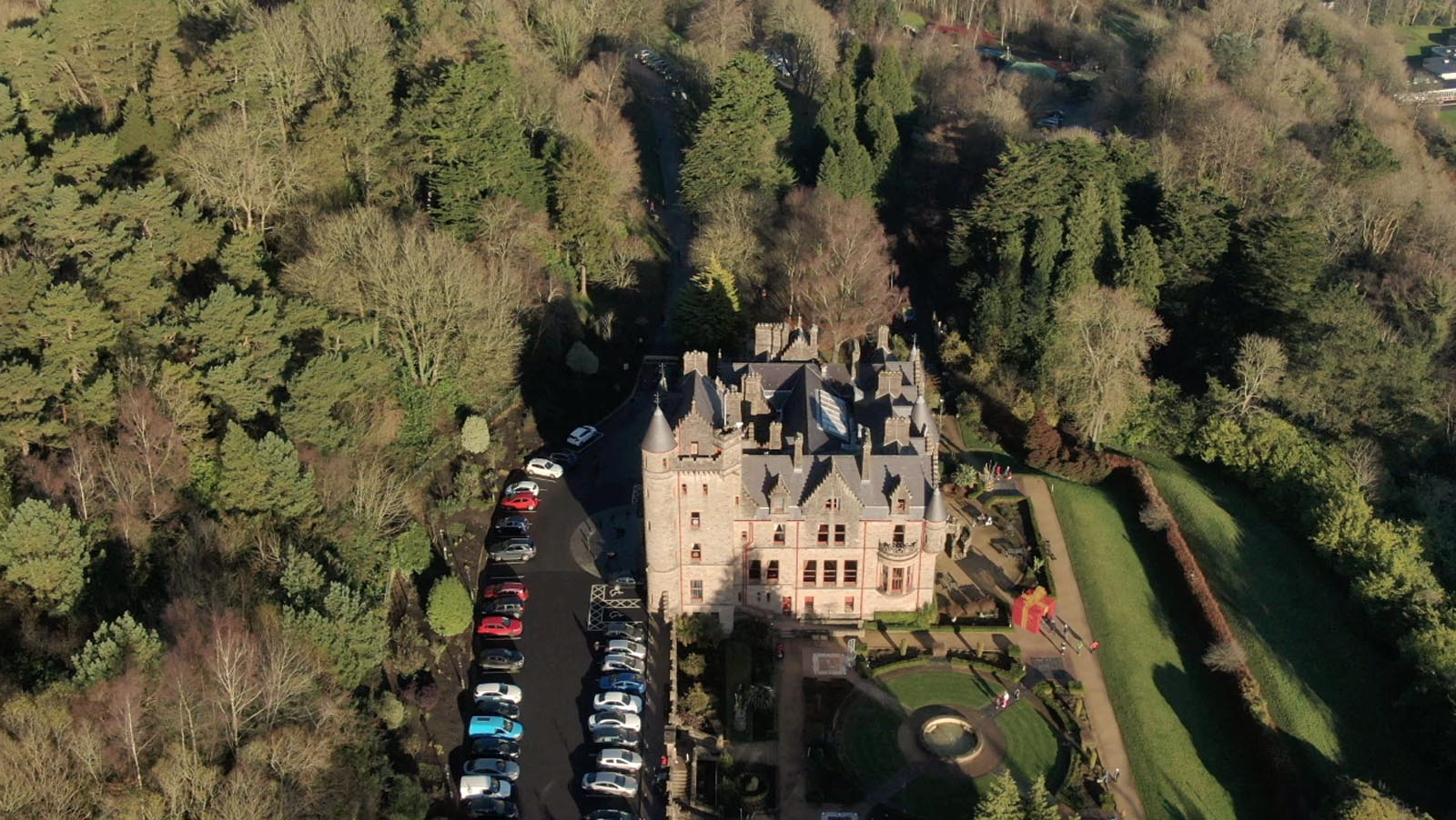 Aerial drone photography and video production services Dublin and Ireland portfolio - screenshot 3 of Belfast Castle 2 video