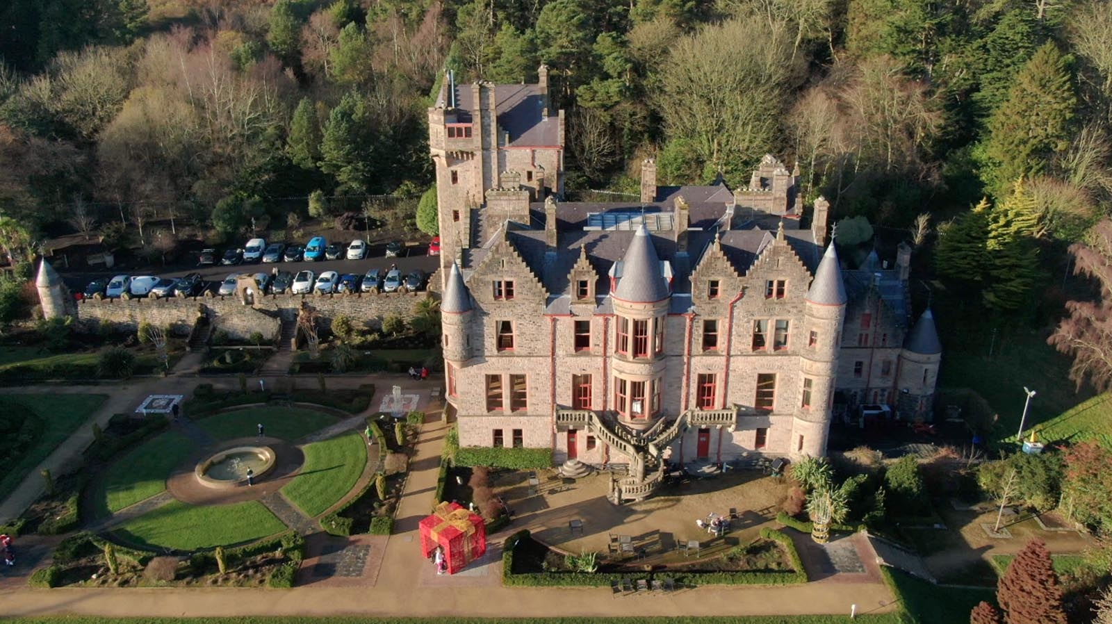 Aerial drone photography and video production services Dublin and Ireland portfolio - screenshot 5 of Belfast Castle 2 video