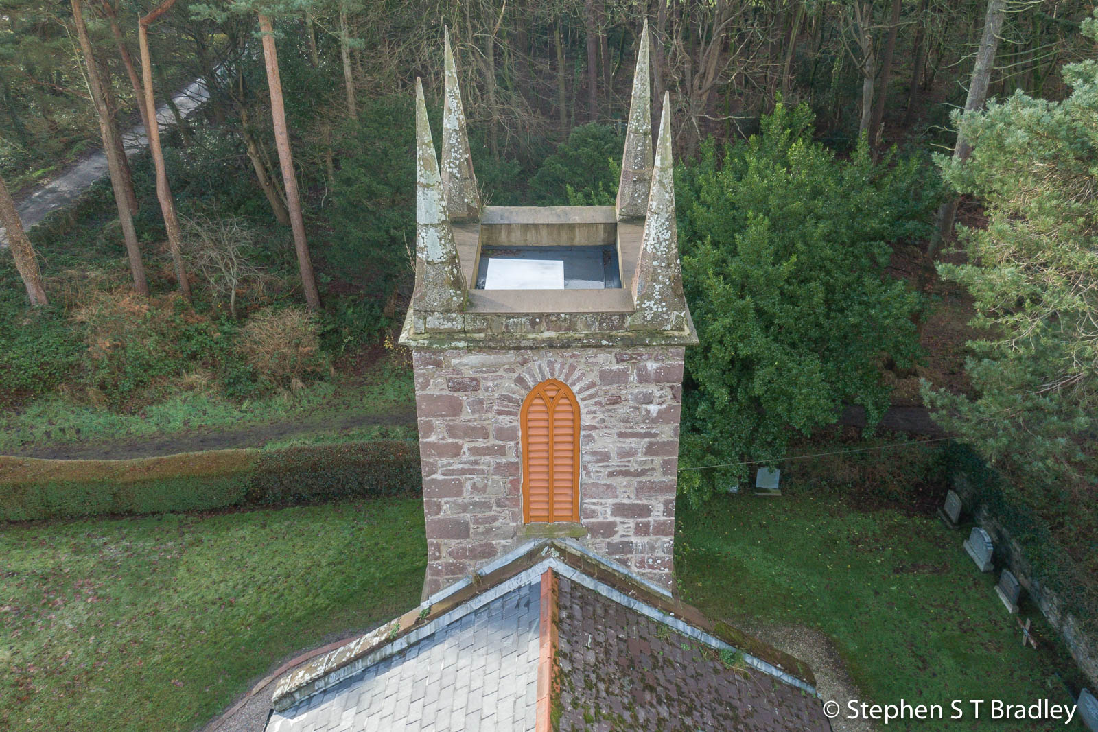 Aerial drone photography and video production services Dublin and Ireland portfolio - The Old Church Centre, Cushendun, aerial photo 0001-5
