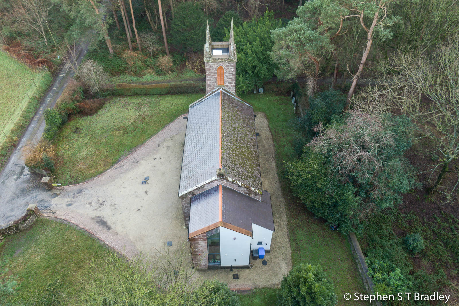Aerial drone photography and video production services Dublin and Ireland portfolio - The Old Church Centre, Cushendun, aerial photo 0001-6