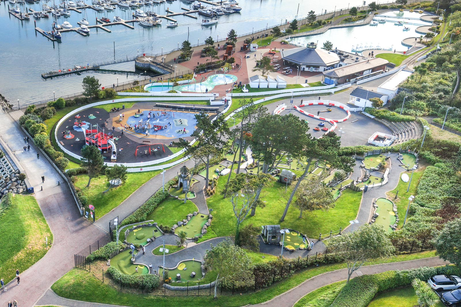 Aerial drone photography and video production services Dublin and Ireland portfolio - Pickie Fun Park, Bangor, aerial photo 0149-2