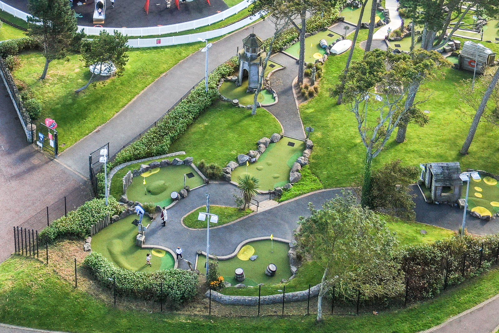 Aerial drone photography and video production services Dublin and Ireland portfolio - Pickie Fun Park, Bangor, aerial photo 0149-4