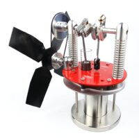 A compact Stirling engine stove fan for use across a broad range of temperatures - Warpfive Fans