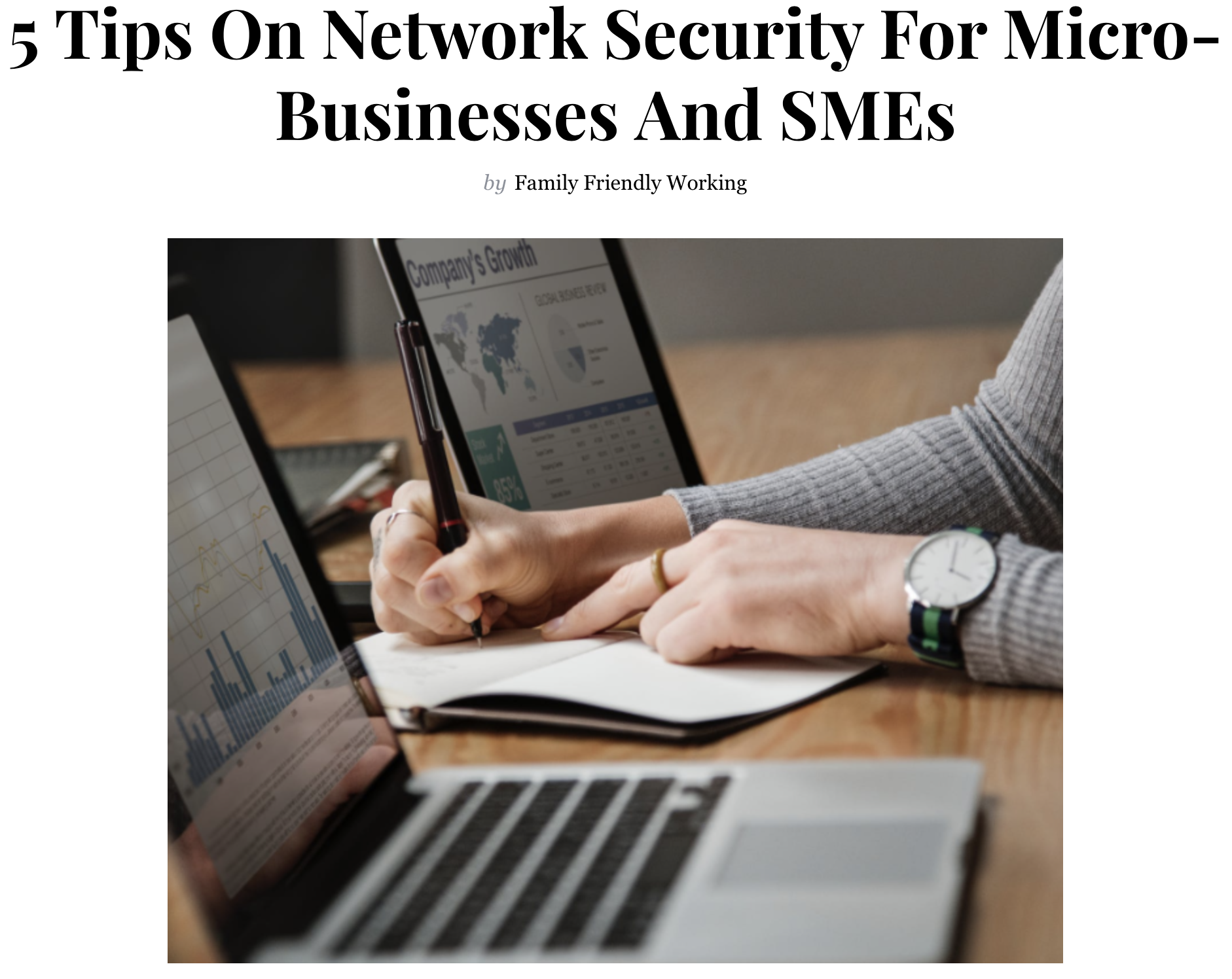 Network Security - friendly matters article