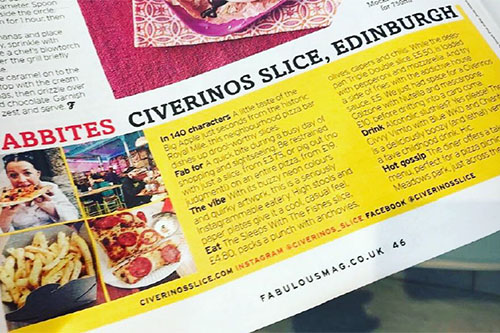 fabulous magazine civerinos pizza
