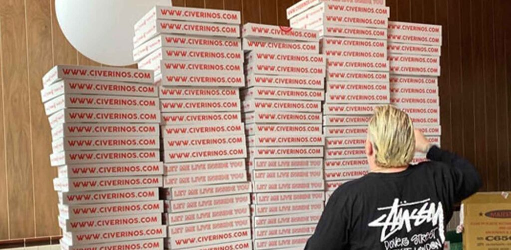 civerinos dough it yourself pizza kits in edinburgh boxes