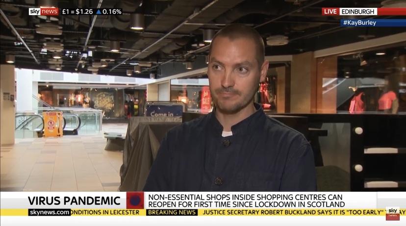 Re-opening of Waverley on Sky News