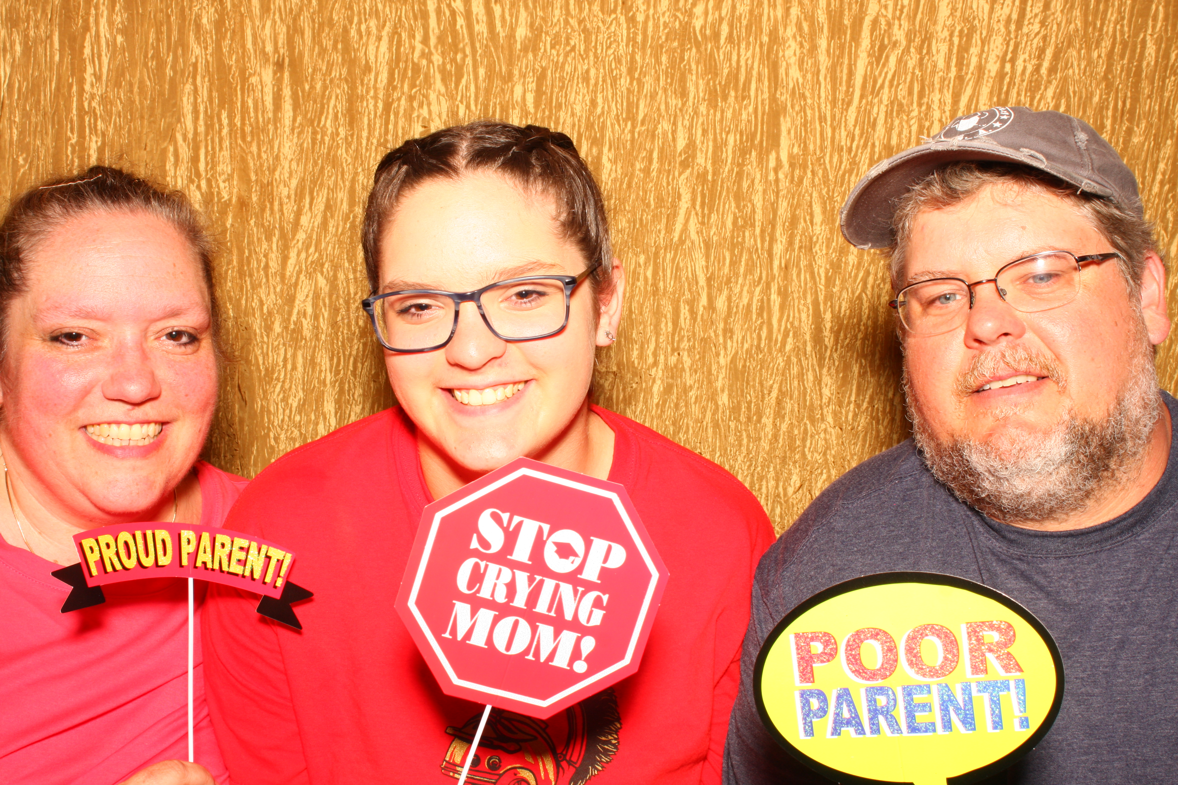 photobooth picture at a graduation party