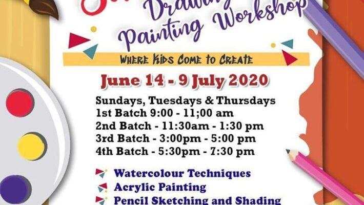 Online Summer Drawing & Painting Workshop.