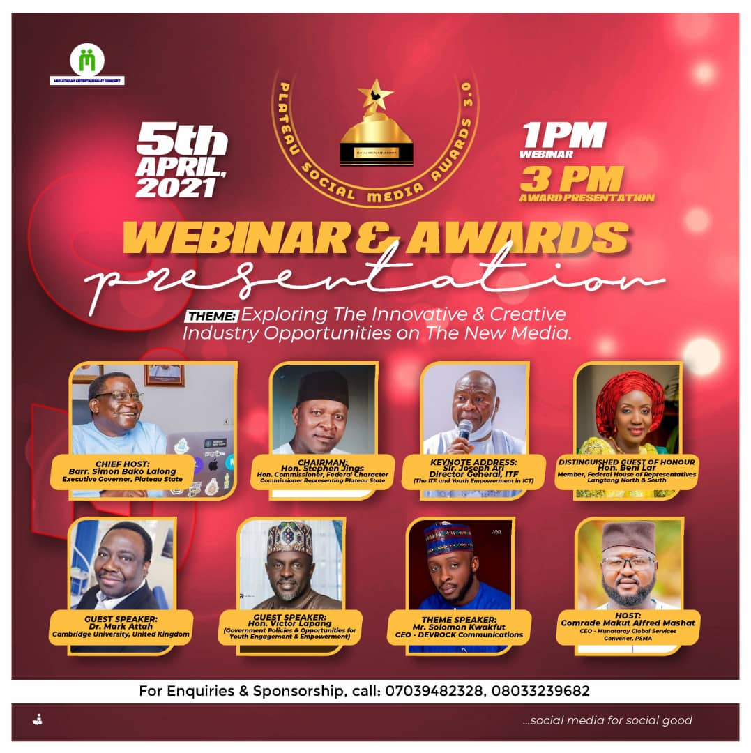 Winners of 2021 Plateau Social Media Awards Unveiled