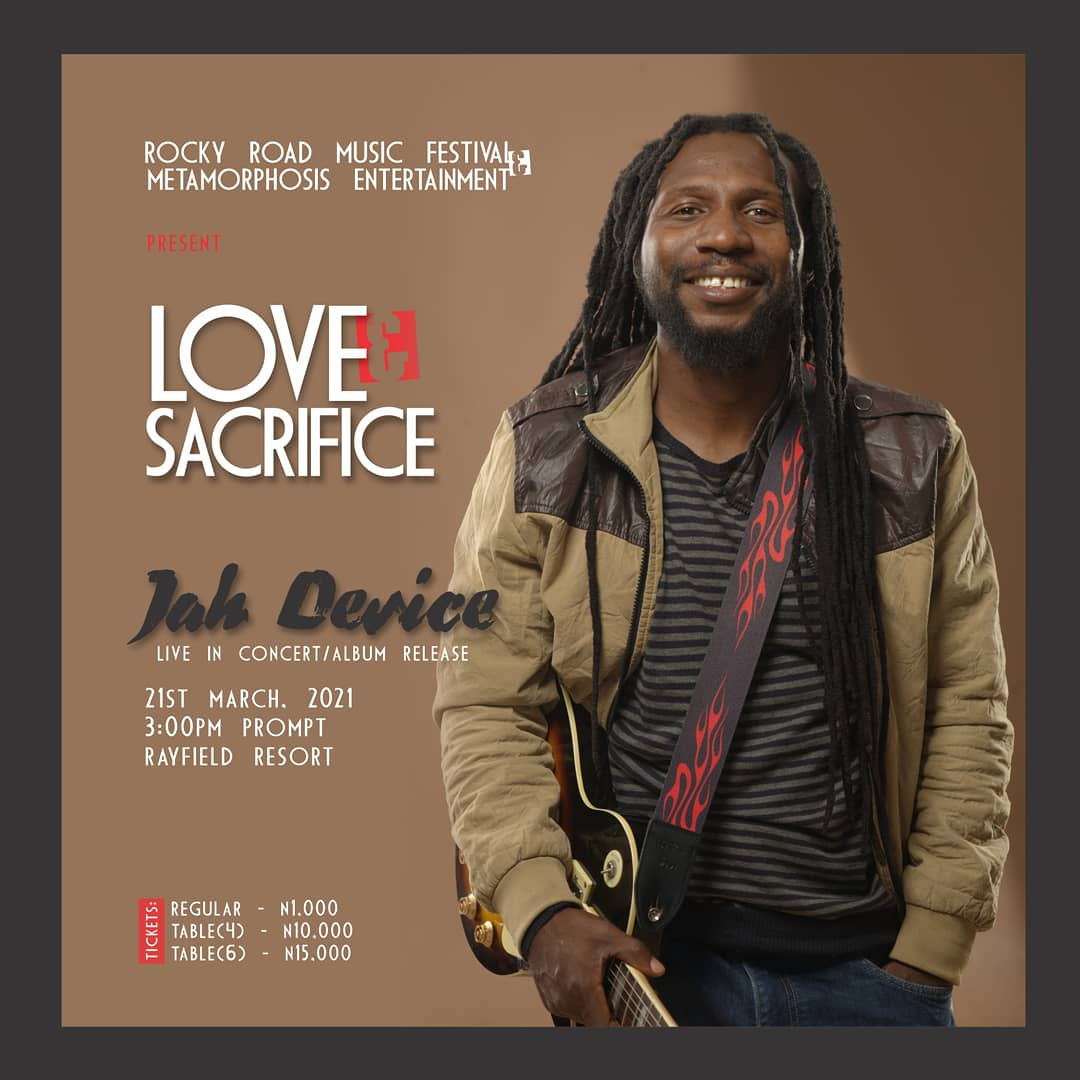 Jah Device Set to Release Fascinating Album With a Live Music Concert on 21st March, 2021