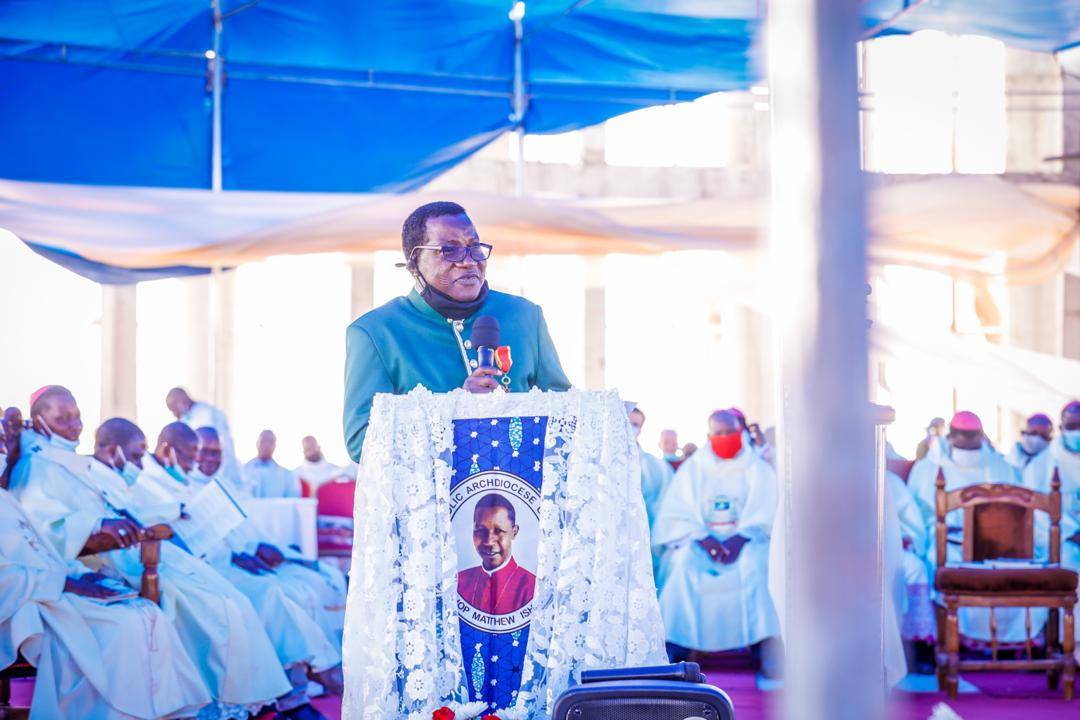 """""""Don't Allow the Pulpit to be Used for Division & Hatred"""", Gov. Lalong Charges Religious Leaders as New Catholic Archbishop of Jos is Installed"""