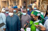 Lalong visit Plateau NUJ Secretariat on the Spot Assessment of ongoing projects