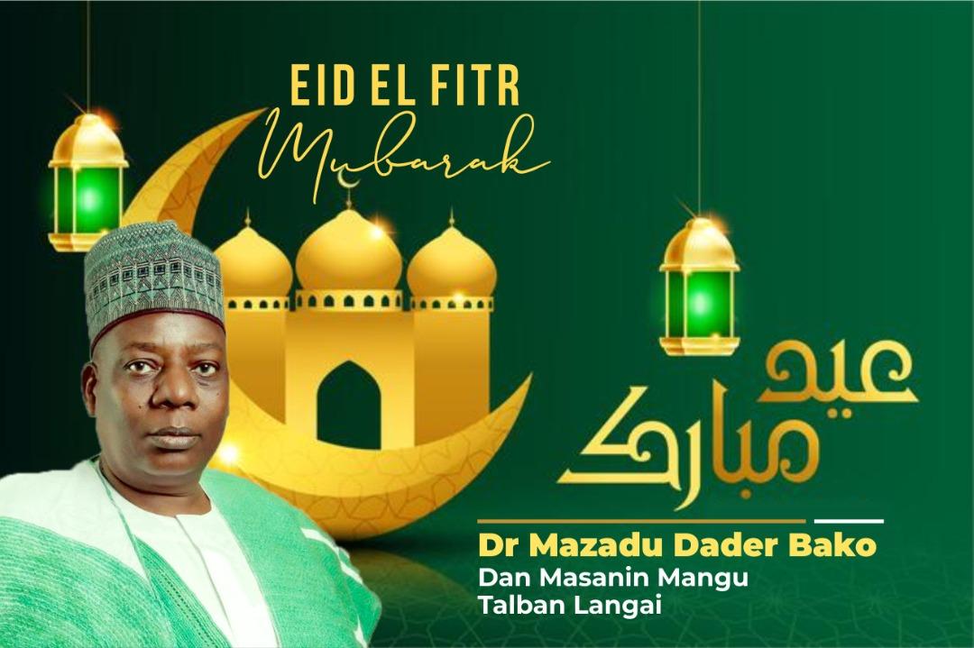 Dr. Mazadu Dader Bako greets the entire Muslim community (Ummah) as they mark the 2021 Eid El Fitr
