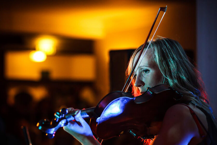 Freelance violin player Clare Mactaggart