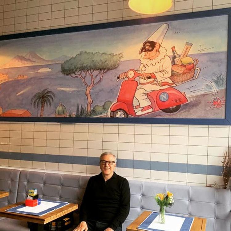 Frank Boyle Napoli Cafe Glasgow Installation