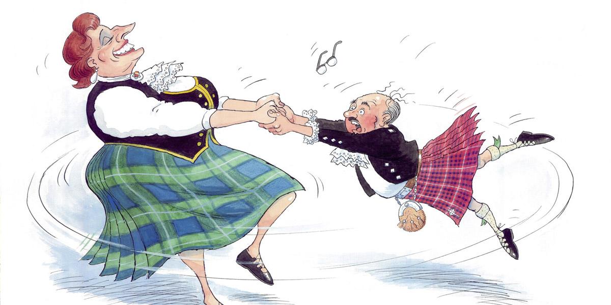 Frank Boyle Highland Fling Cartoon