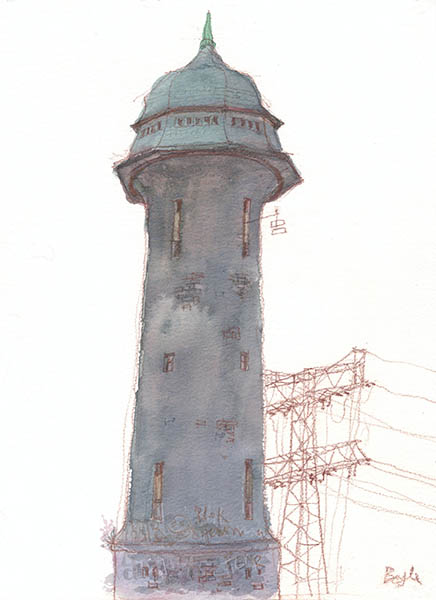 Frank Boyle Drawing And Painting Wasserturm