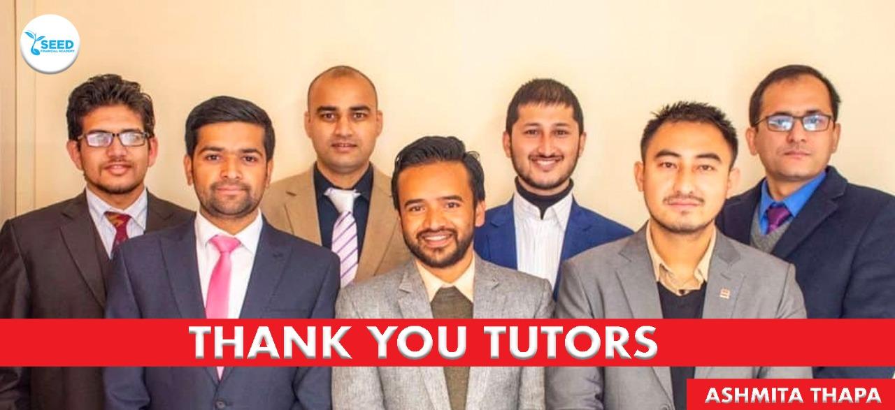 Thank you Tutors by Asmita Thapa