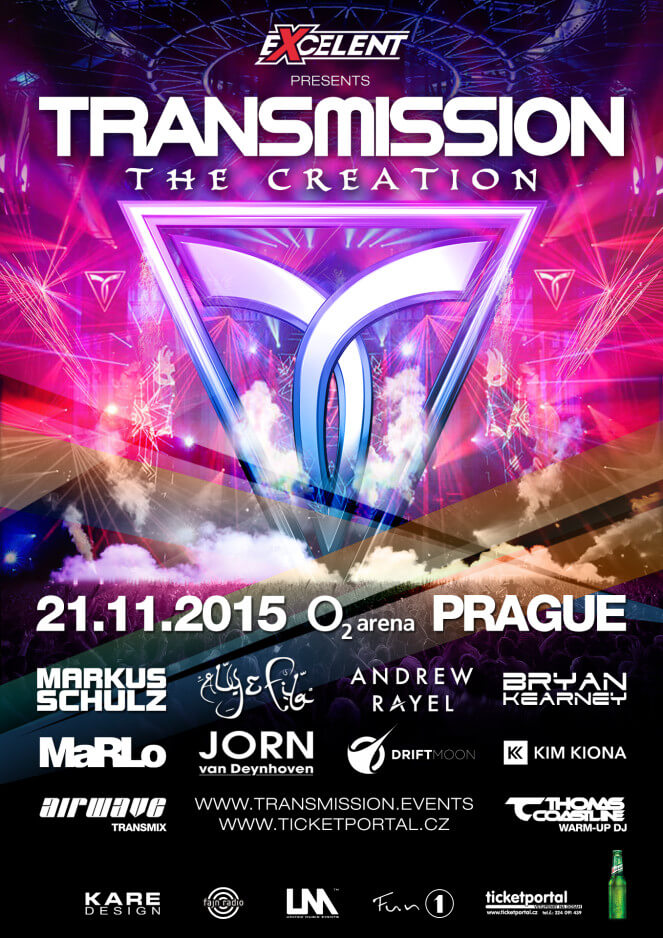 Excelent presents Transmission The Creation at O2 Arena, Prague, Czech Republic on 21st of November 2015