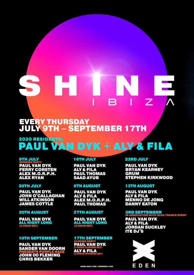 Paul van Dyk presents SHINE Ibiza 2020