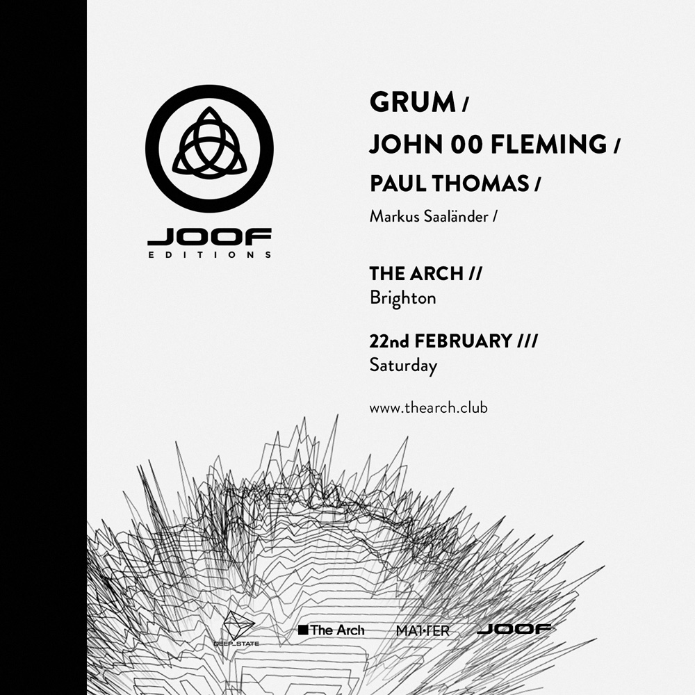 John 00 Fleming presents JOOF Editions with Grum at The Arch, Brighton, UK on 22nd of February 2020