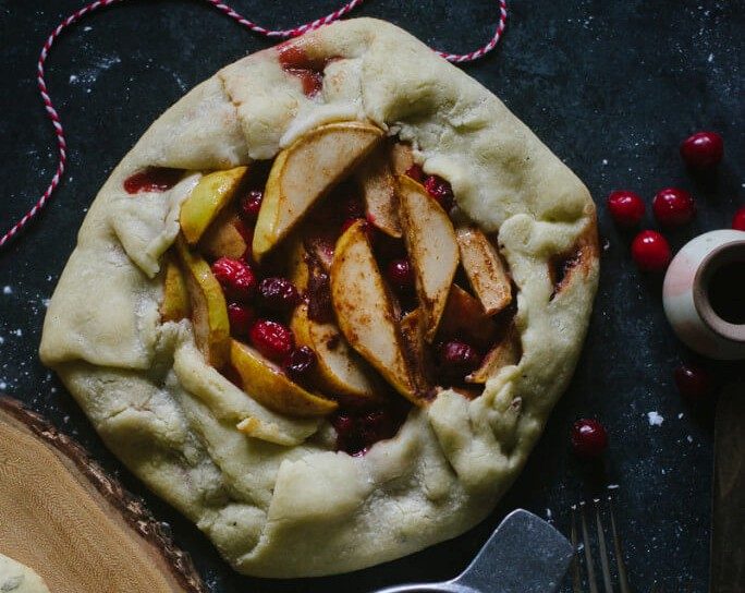 PEAR AND CRANBERRY GLUTEN FREE GALETTE