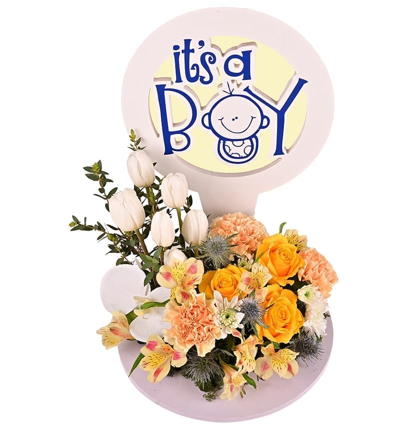 Baby Boy Flower Wish Bouquet