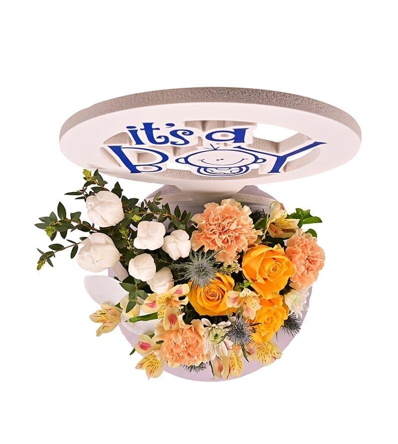 Baby Boy Flower Wish Bouquet