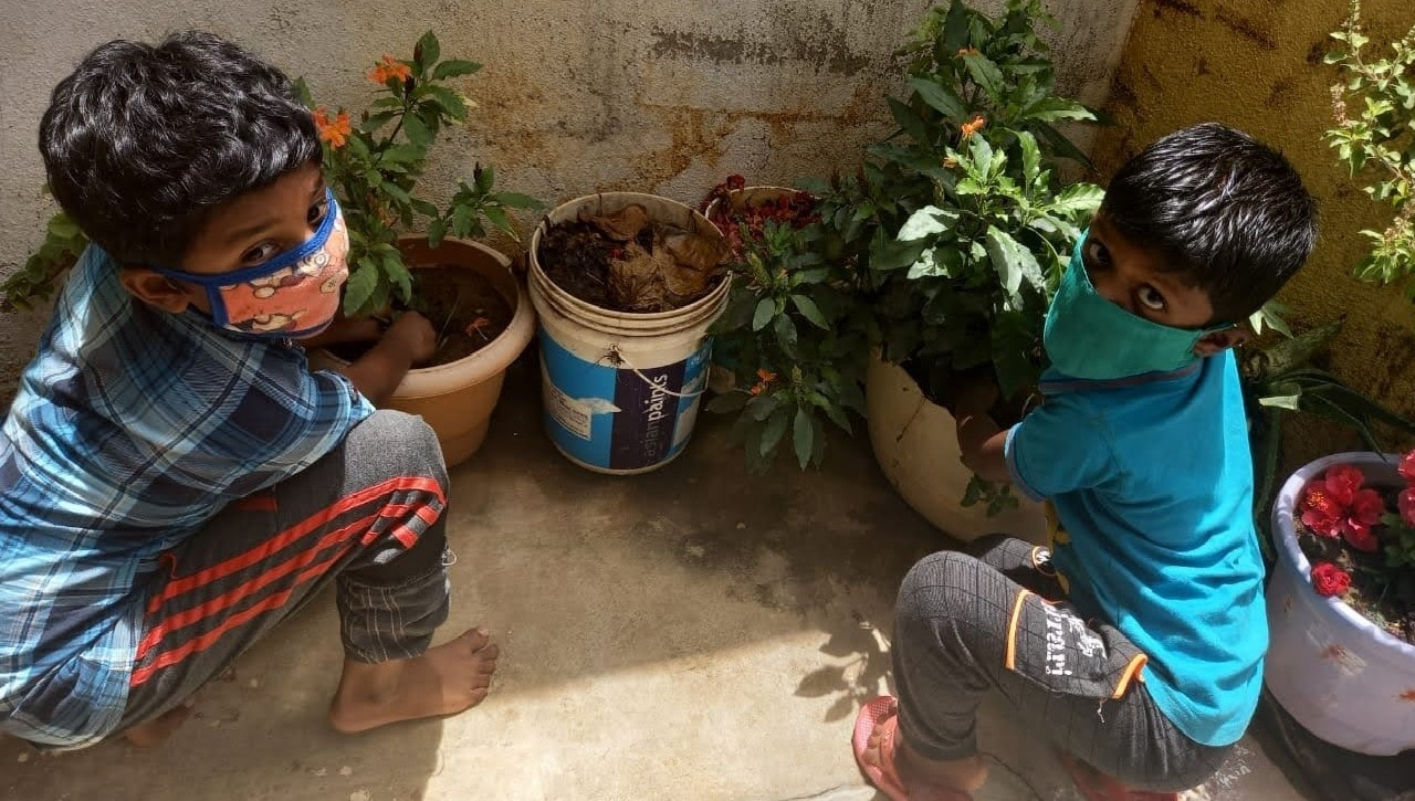 Children from Honnudikki plant saplings to celebrate World Environment Day